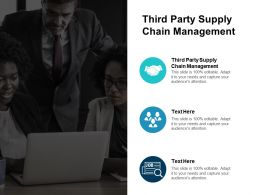 Third Party Supply Chain Management Ppt Powerpoint Presentation Outline Files Cpb