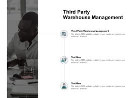 Third Party Warehouse Management Ppt Powerpoint Presentation Ideas Visual Aids Cpb