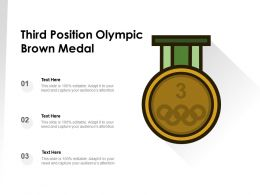 Third Position Olympic Brown Medal