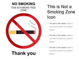 This Is Not A Smoking Zone Icon