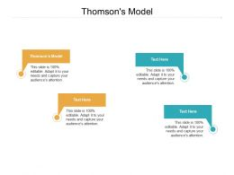 Thomsons Model Ppt Powerpoint Presentation Model Gridlines Cpb