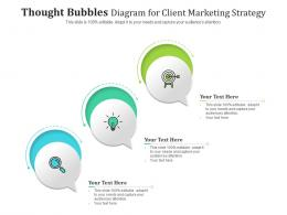 Thought Bubbles Diagram For Client Marketing Strategy Infographic Template