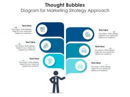 Thought Bubbles Diagram For Marketing Strategy Approach Infographic Template