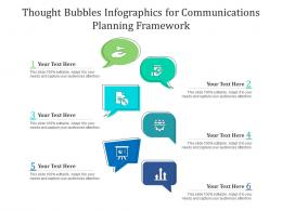 Thought Bubbles For Communications Planning Framework Infographic Template