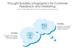 Thought Bubbles For Customer Feedback And Marketing Infographic Template