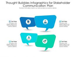 Thought Bubbles For Stakeholder Communication Plan Infographic Template