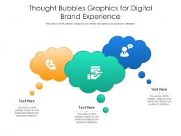 Thought Bubbles Graphics For Digital Brand Experience Infographic Template