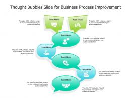 Thought Bubbles Slide For Business Process Improvement Infographic Template