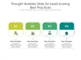 Thought Bubbles Slide For Lead Scoring Best Practices Infographic Template