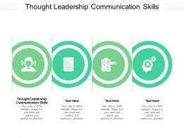 Thought Leadership Communication Skills Ppt Powerpoint Presentation Professional Slide Portrait Cpb