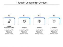 Thought Leadership Content Ppt Powerpoint Presentation Ideas Example Cpb