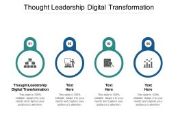 Thought Leadership Digital Transformation Ppt Powerpoint Presentation Infographic Template Master Slide Cpb