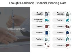 Thought Leadership Financial Planning Data Integration Process Onboarding Strategy Slide Cpb