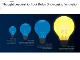 Thought Leadership Four Bulbs Showcasing Innovation