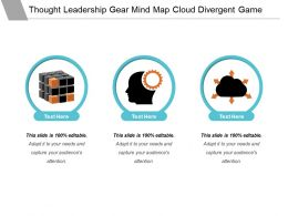 Thought Leadership Gear Mind Map Cloud Divergent Game