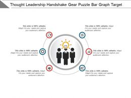 Thought Leadership Handshake Gear Puzzle Bar Graph Target