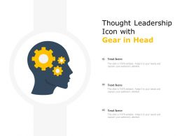 Thought Leadership Icon With Gear In Head