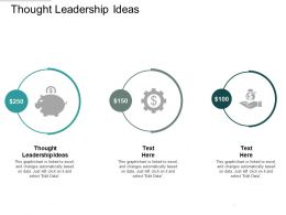 Thought Leadership Ideas Ppt Powerpoint Presentation Portfolio Outfit Cpb