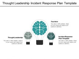 Thought Leadership Incident Response Plan Template Engagement Marketing Cpb