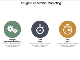 Thought Leadership Marketing Ppt Powerpoint Presentation Infographic Template Cpb