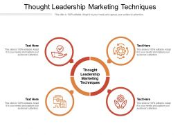 Thought Leadership Marketing Techniques Ppt Powerpoint Presentation Infographic Cpb