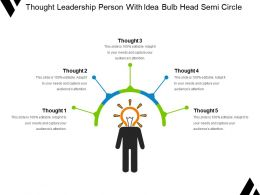 Thought Leadership Person With Idea Bulb Head Semi Circle