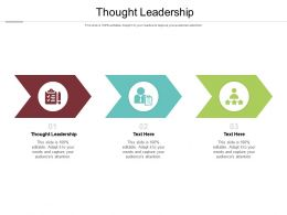 Thought Leadership Ppt Powerpoint Presentation Professional Portfolio Cpb