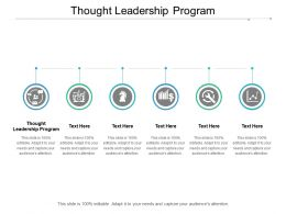 Thought Leadership Program Ppt Powerpoint Presentation Inspiration Cpb