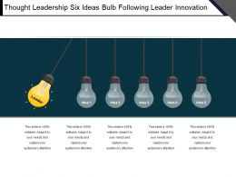 Thought Leadership Six Ideas Bulb Following Leader Innovation