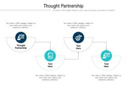 Thought Partnership Ppt Powerpoint Presentation Model Structure Cpb