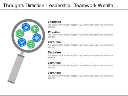 Thoughts Direction Leadership Teamwork Wealth Management Investment Management