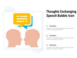 Thoughts Exchanging Speech Bubble Icon