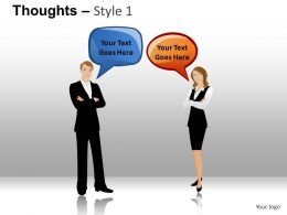 Thoughts Style 1 Powerpoint Presentation Slides DB