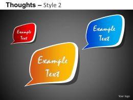 Thoughts Style 2 Powerpoint Presentation Slides DB