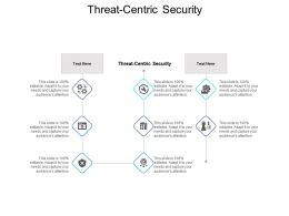 Threat Centric Security Ppt Powerpoint Presentation Icon Graphic Tips Cpb