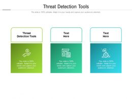 Threat Detection Tools Ppt Powerpoint Presentation File Introduction Cpb