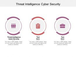 Threat Intelligence Cyber Security Ppt Powerpoint Presentation Icon Templates Cpb