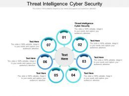 Threat Intelligence Cyber Security Ppt Powerpoint Presentation Layouts Show Cpb
