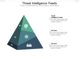 Threat Intelligence Feeds Ppt Powerpoint Presentation Example Cpb