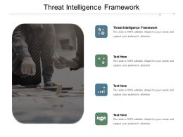 Threat Intelligence Framework Ppt Powerpoint Presentation Summary Graphics Example Cpb