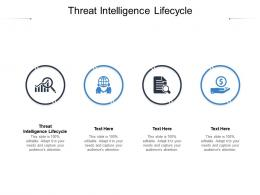 Threat Intelligence Lifecycle Ppt Powerpoint Presentation Professional Example File Cpb