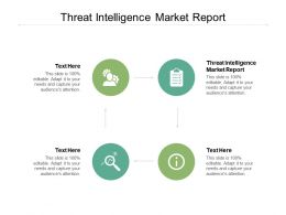 Threat Intelligence Market Report Ppt Powerpoint Presentation Layouts File Formats Cpb
