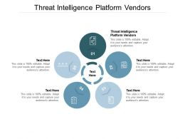 Threat Intelligence Platform Vendors Ppt Powerpoint Presentation File Ideas Cpb