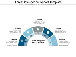 Threat Intelligence Report Template Ppt Powerpoint Layouts Example Cpb