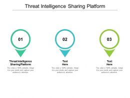 Threat Intelligence Sharing Platform Ppt Powerpoint Presentation Professional Clipart Cpb