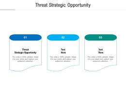 Threat Strategic Opportunity Ppt Powerpoint Presentation Styles Outfit Cpb