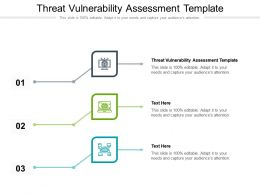Threat Vulnerability Assessment Template Ppt Powerpoint Presentation Layout Ideas Cpb