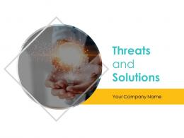 Threats And Solutions Powerpoint Presentation Slides