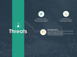 Threats Competitors H49 Ppt Powerpoint Presentation Pictures Objects
