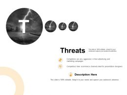 Threats Competitors Ppt Powerpoint Presentation Ideas Information